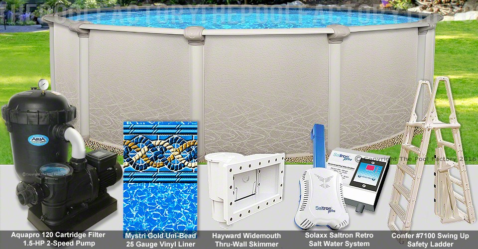 "15'x52"" Saltwater 5000 Round Pool Package"