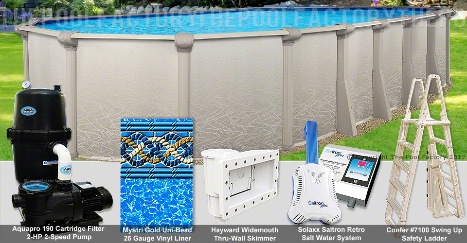 "15'x30'x52"" Saltwater 5000 Oval Pool Package"