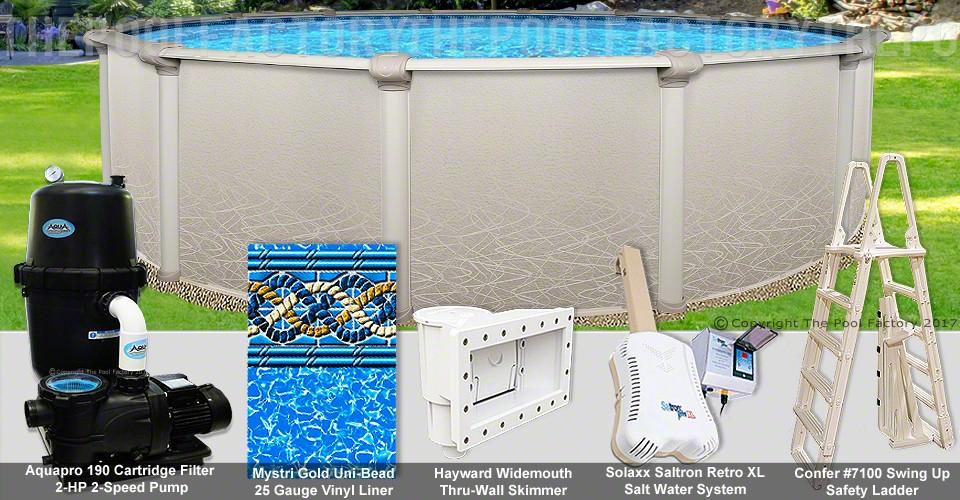 "30'x52"" Saltwater 5000 Round Pool Package"