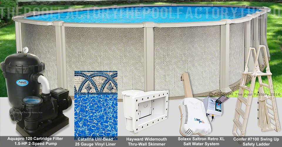 "12'x16'x54"" Saltwater 8000 Oval Pool Package"