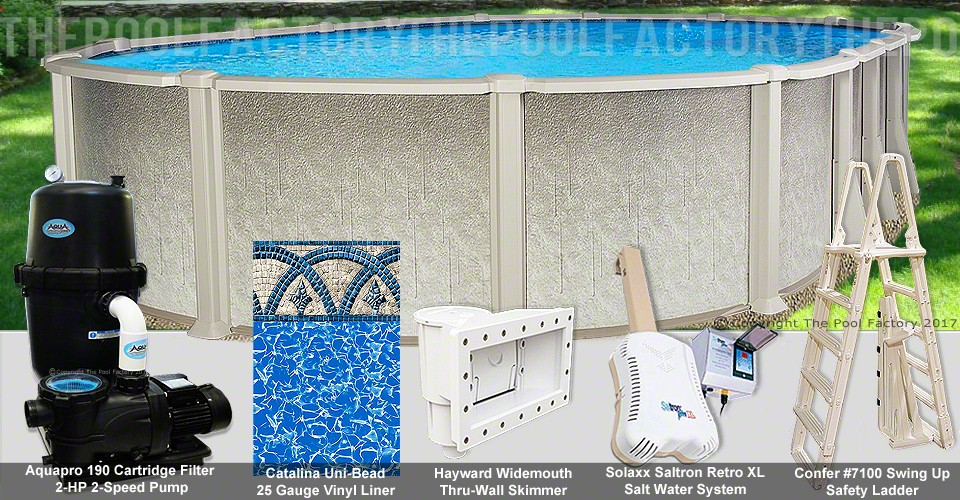"15'x30'x54"" Saltwater 8000 Oval Pool Package"