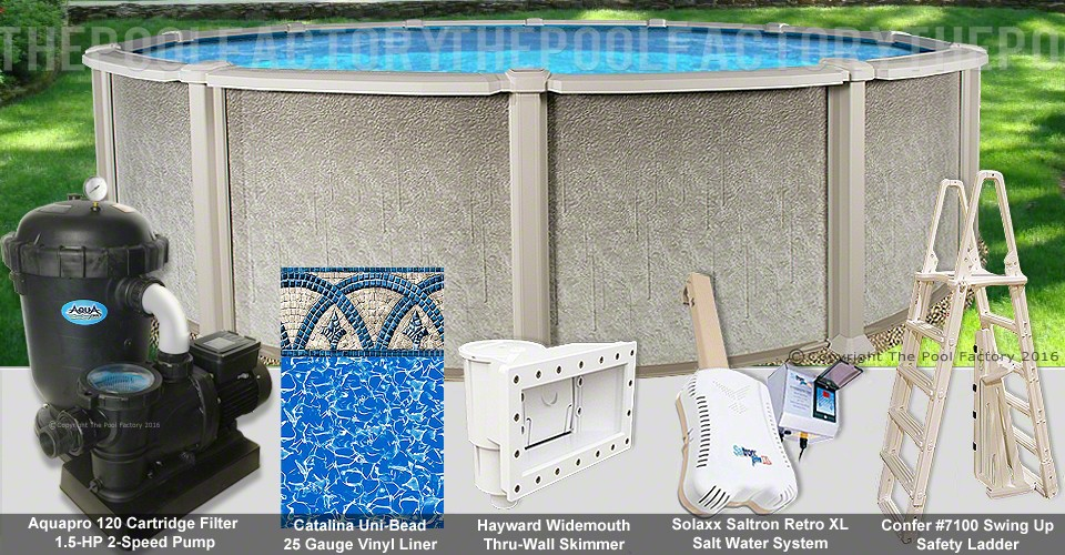 "18'x54"" Saltwater 8000 Round Pool Package"