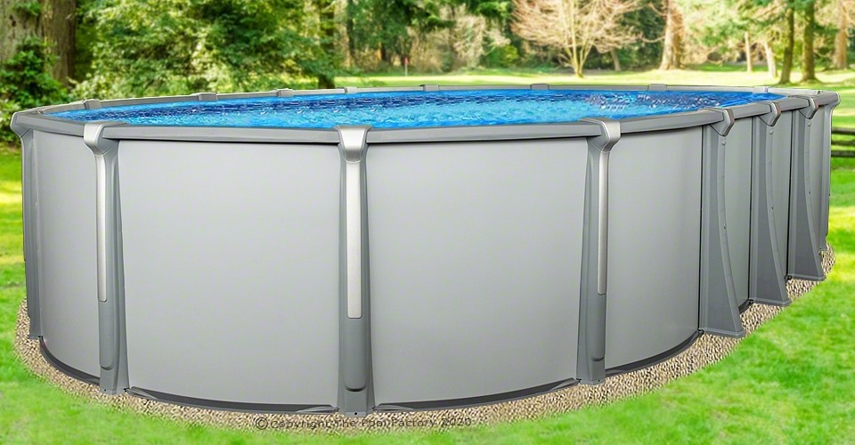 """15'x30'x54"""" Saltwater Aurora Oval Pool with Resin Composite Wall"""