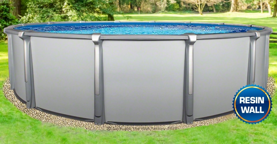 """18'x54"""" Saltwater Aurora Round Pool with Resin Composite Wall"""