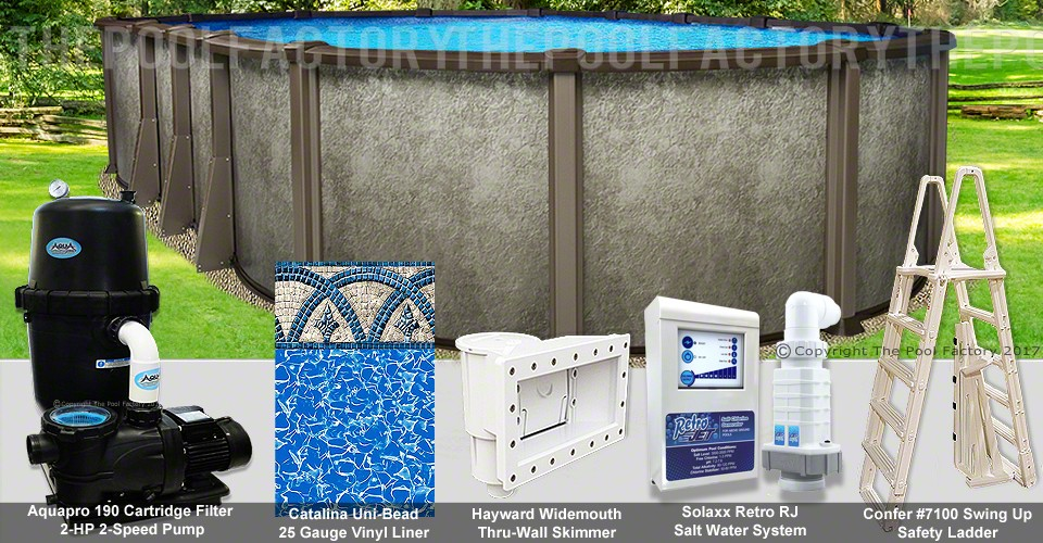 """18'x33'x54"""" Saltwater LX Oval Pool Package"""