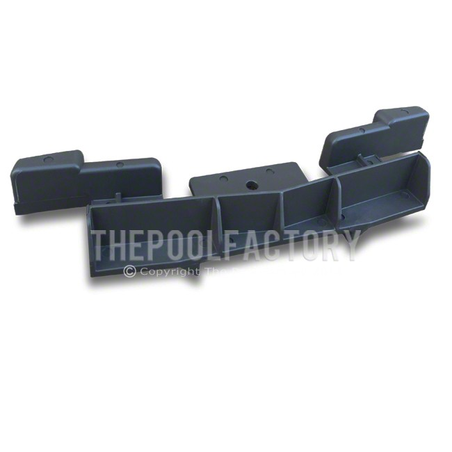 Bottom Straight Side Track Connector for Oval Saltwater LX Pool Models - Back View