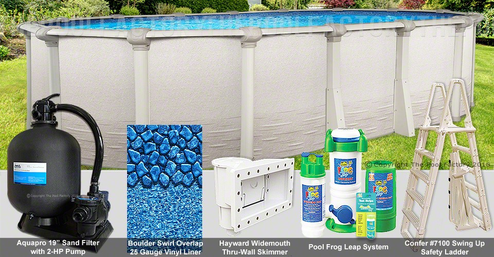 "12'x18'x52"" Signature RTL Oval Pool Package"
