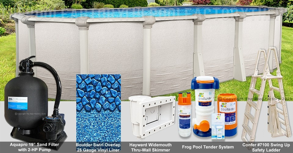 """10'x19'x52"""" Signature RTL Oval Pool Package"""