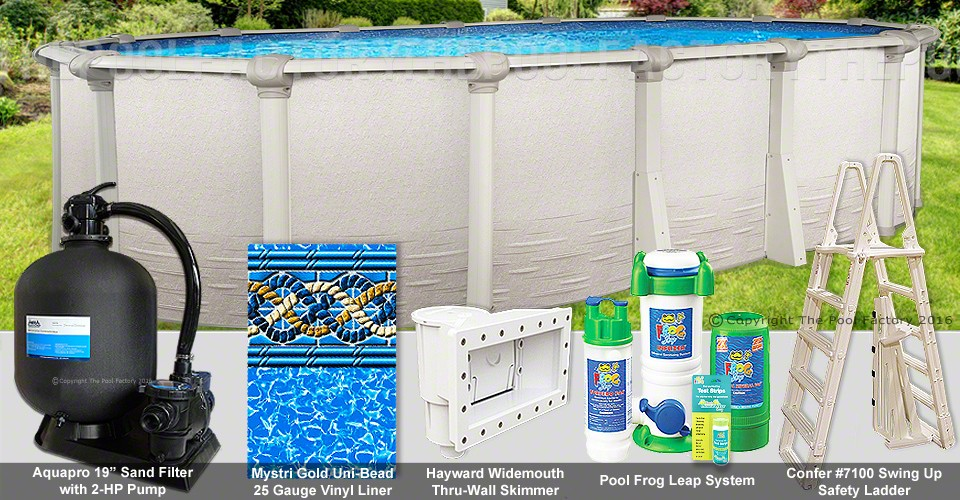 "12'x24'x54"" Signature RTL Oval Pool Package"
