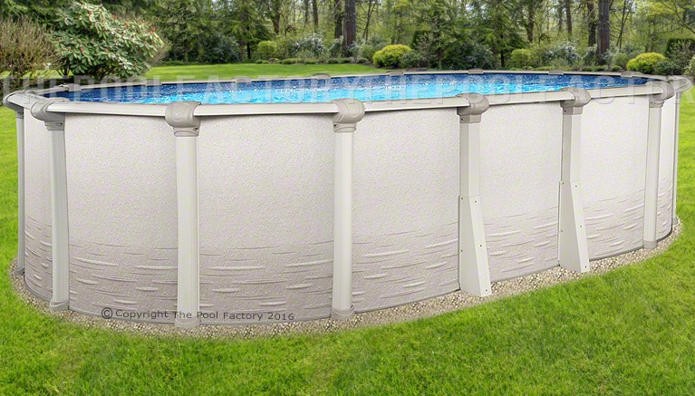 Signature rtl oval above ground pools the pool factory for Buying an above ground pool guide