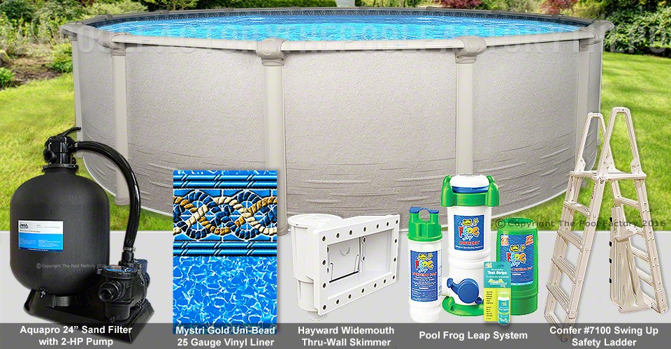 """27'x54"""" Signature RTL Round Pool Package"""