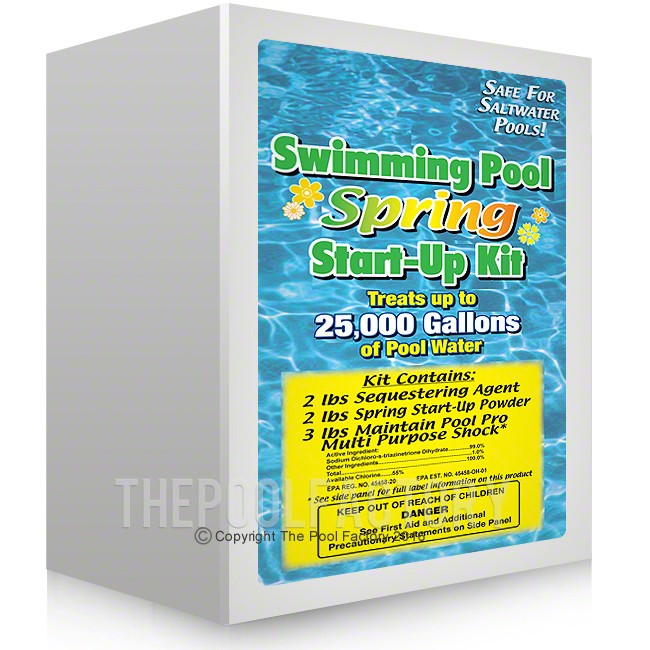 Spring start up kit for swimming pools for How to open a swimming pool in the spring
