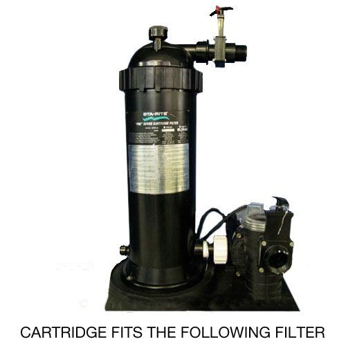 The Sta-Rite PRC75 Replacement Filter Cartridge fits the system shown above