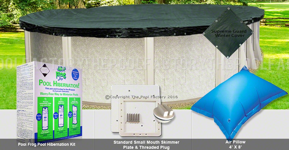 15'x26' Oval Supreme Closing Package for Pool Frog System (Small Mouth Plate)