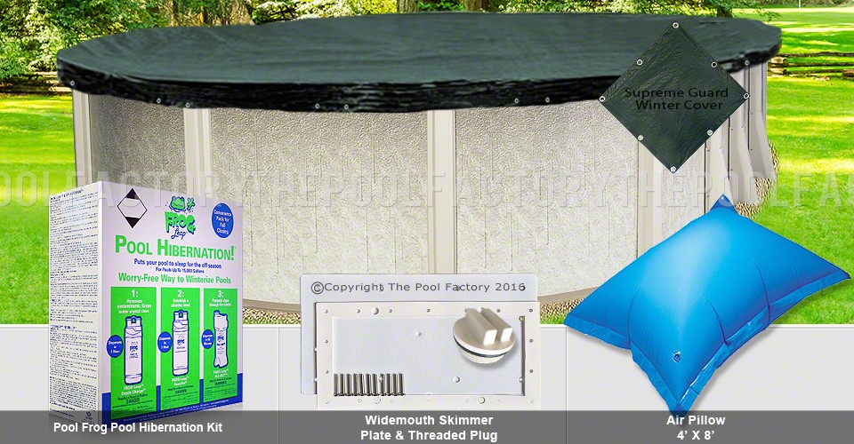 15'x24' Oval Supreme Closing Package for Pool Frog System (WideMouth Plate)