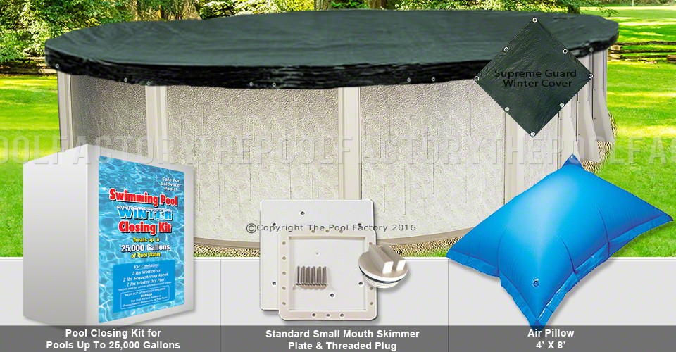 12'x27' Oval Supreme Closing Package (Small Mouth Plate)