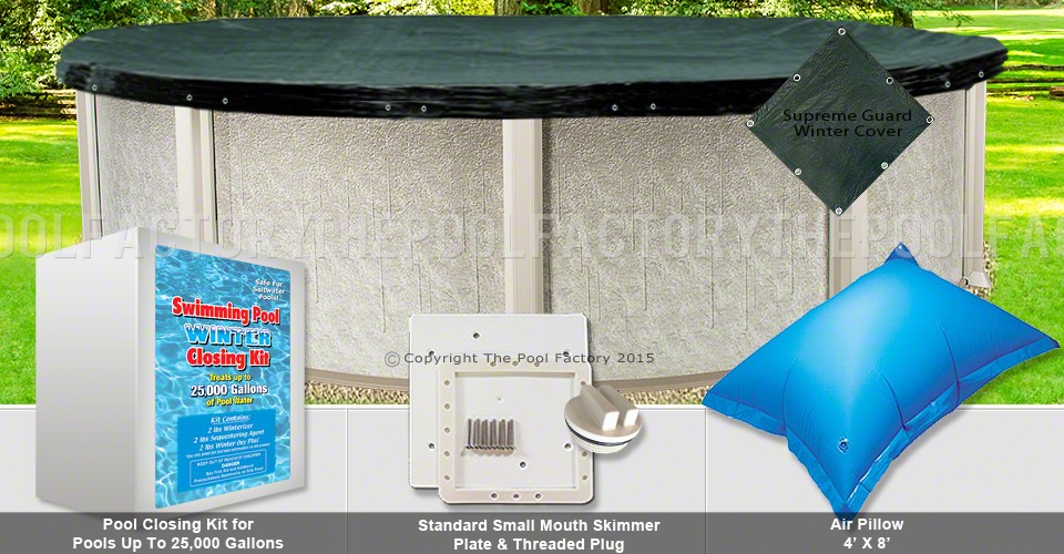 24' Round Supreme Closing Package for Saltwater Systems (Small Mouth Plate)