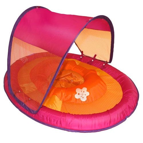 SwimWays Baby Spring Float Sun Canopy (Pink Flower) 11606