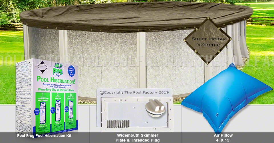 18'x40' Oval Super Heavy XXtreme Closing Package for Pool Frog System (WideMouth Plate)