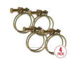 "Wire Hose Clamps for 1-1/2"" Hose - 4 Pack"