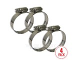 Stainless Steel Clamps 4-Pack