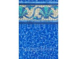 """18'x33'x52"""" Oval Esther Williams Beaded Beach Haven Liner - 30 Gauge"""