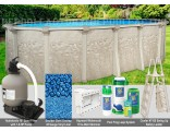 """15'x26'x52"""" Cameo Oval Pool Package"""