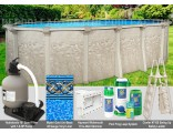 "15'x30'x54"" Cameo Oval Pool Package"