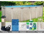 """8'x15'x52"""" Cameo Oval Pool Package"""