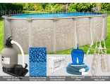 """10'x16'x52"""" Cameo Oval Pool Package"""