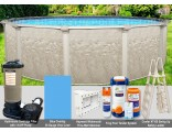 """24'x54"""" Cameo Round Pool Package"""