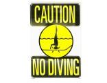 "12""x18"" Caution No Diving Sign"