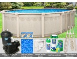 "10'x18'x52"" Hampton Oval Pool Package"