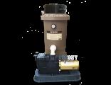 Hayward Perflex EC65 D.E. Inground Pool Filter System with 1-HP Super Pump & Base Kit