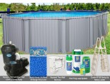 "12'x17'x54"" Intrepid Oval Pool Package"