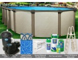 "12'x24'x54"" Melenia Oval Pool Package"