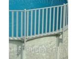 Sharkline Integrity Aluminum Fence Installation Close-Up