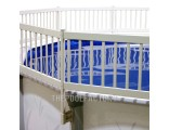 15'x30' Oval Vinyl Works Premium Resin Fence Kit
