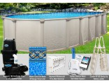 "18'x40'x52"" Saltwater 5000 Oval Pool Package"