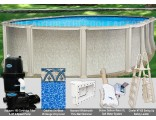 "15'x26'x54"" Saltwater 8000 Oval Pool Package"