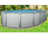 "18'x33'x54"" Saltwater Aurora Oval Pool with Resin Composite Wall"