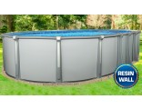 "15'x26'x54"" Saltwater Aurora Oval Pool with Resin Composite Wall"