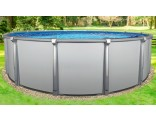"""24'x54"""" Saltwater Aurora Round Pool with Resin Composite Wall"""