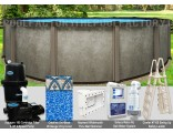 "30'x54"" Saltwater LX Round Pool Package"