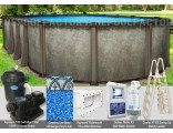 """12'x20'x54"""" Saltwater LX Oval Pool Package"""