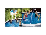 Swimline NT202 Above Ground Pool Jam Combo Basketball & Volleyball