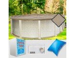 12'x18' Oval Ultimate Closing Package for Saltwater Systems (WideMouth Plate)