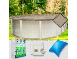 12'x20' Oval Ultimate Closing Package for Pool Frog System (Small Mouth Plate)