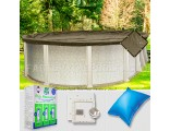 15'x24' Oval Super Heavy XXtreme Closing Package for Pool Frog System (Small Mouth Plate)