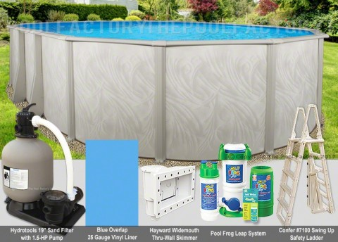 "15'x30'x52"" Bristol Oval Pool Package"